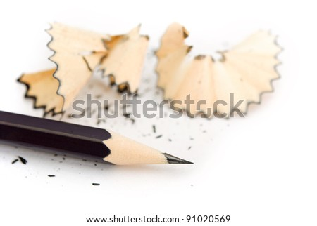 Keen pencil on a white background - stock photo