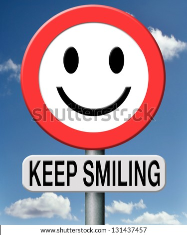 keep smiling - stock photo