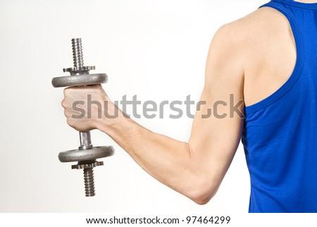 keep weight isolated on white background - stock photo