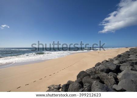 Kekaha Beach Park, Kauai, Hawaii-1 - stock photo