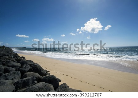 Kekaha Beach Park, Kauai, Hawaii-2 - stock photo