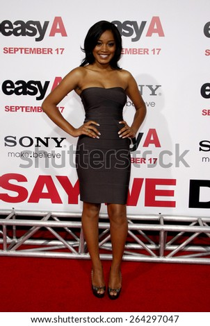 Keke Palmer at the Los Angeles premiere of 'Easy A' held at the Grauman's Chinese Theater in Hollywood on September 13, 2010.  - stock photo