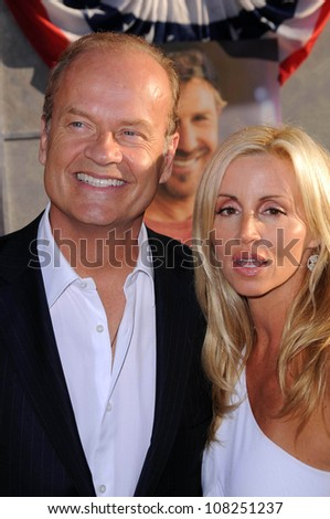 """Kelsey Grammer and Camille Grammer  at the Los Angeles Premiere of """"Swing Vote"""". El Capitan Theatre, Hollywood, CA. 07-24-08 - stock photo"""