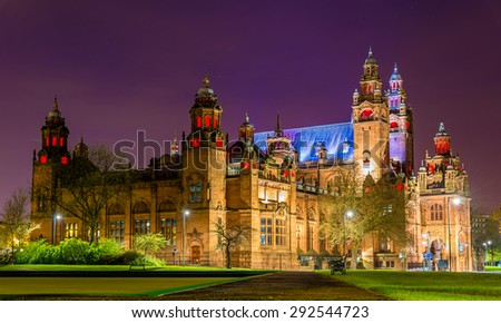 Kelvingrove Art Gallery and Museum in Glasgow, Scotland - stock photo