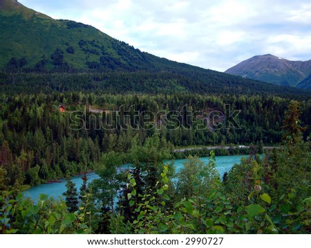 Kenai River, Alaska - stock photo