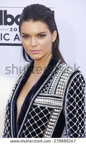 Kendall Jenner at the 2015 Billboard Music Awards held at the MGM Garden Arena in Las Vegas, USA on May 17, 2015.  - stock photo