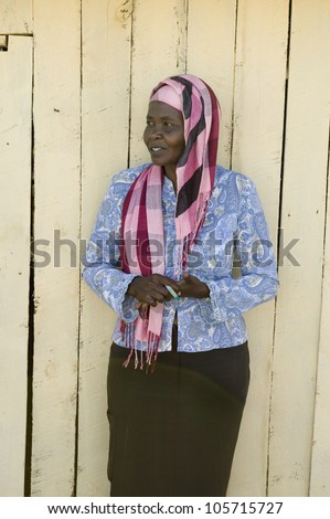 KENYA, AFRICA - JANUARY 2007 - Khadija Rama, founder of Pepo La Tumaini Jangwani, HIV/AIDS Community Rehabilitation Program, Orphanage & Clinic. Jan 2007 in Nairobi, Kenya, Africa - stock photo