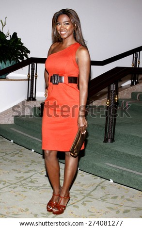 Kenya Moore at the 2009 Essence Black Women in Hollywood Luncheon held at the Beverly Hills Hotel in Beverly Hills on February 19, 2009.  - stock photo