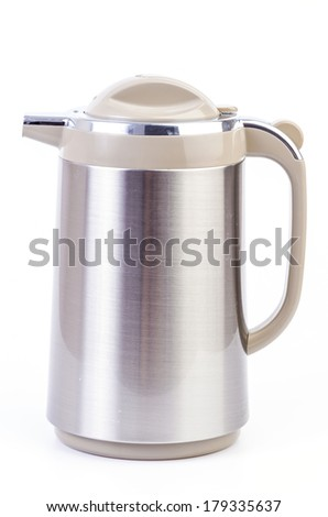 Kettle on isolated white background - stock photo