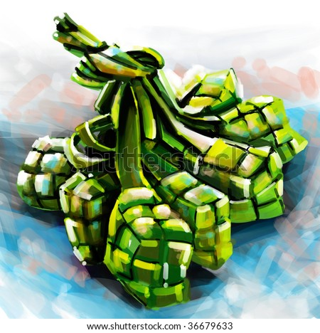 Ketupat - stock photo