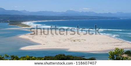 Keurbooms lagoon - Plettenberg Bay, South Africa - stock photo