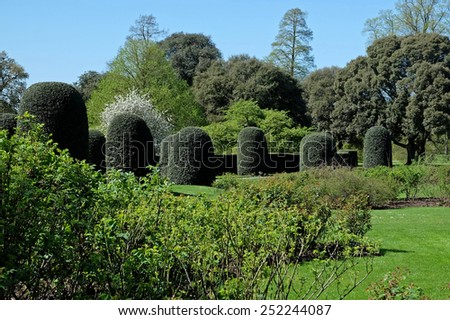 Kew Garden Bush Sculptures - stock photo