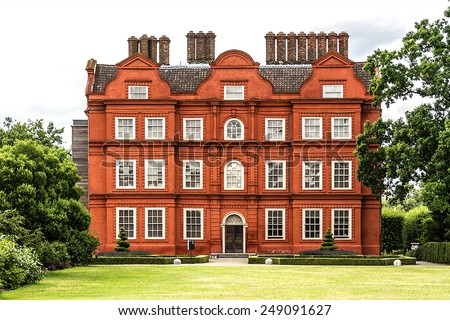 Kew Palace in the grounds of Kew Gardens. Richmond, London, England. - stock photo