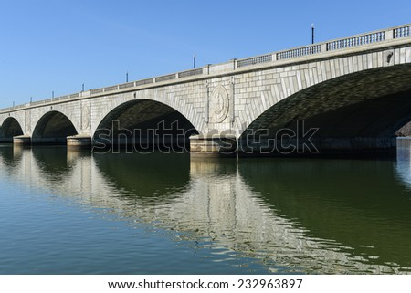 Key Bridge in Washington DC - stock photo