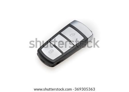 key car isolated on a white background - stock photo