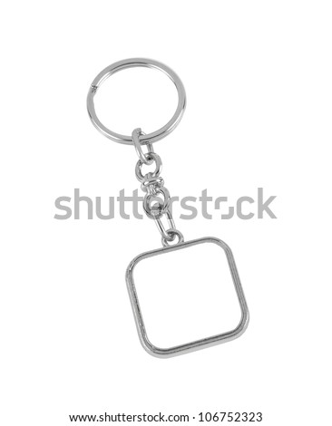 key chain with space for text  isolated on white background - stock photo