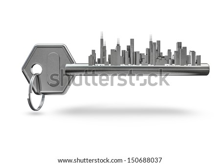 Key city - stock photo