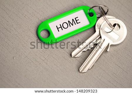 key fob home - stock photo