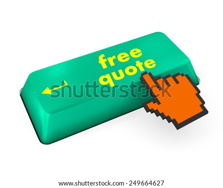 Key for free quote - business concept, raster - stock photo