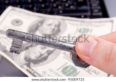 Key for success online business - stock photo