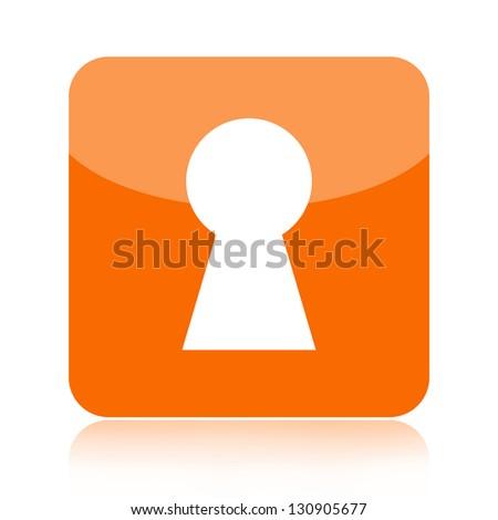 Key hole icon - stock photo