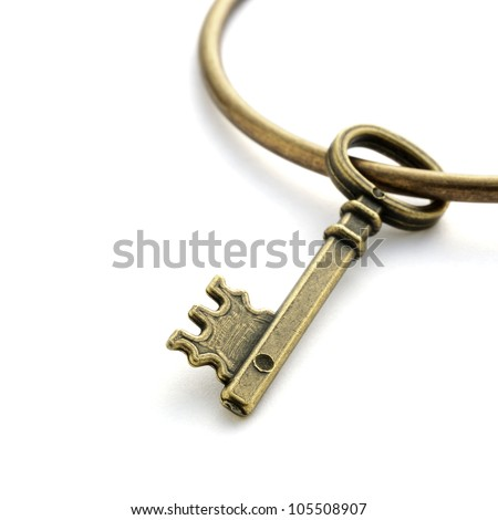 Key isolated on white background - stock photo