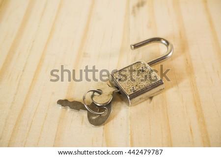 key lock and master key - stock photo
