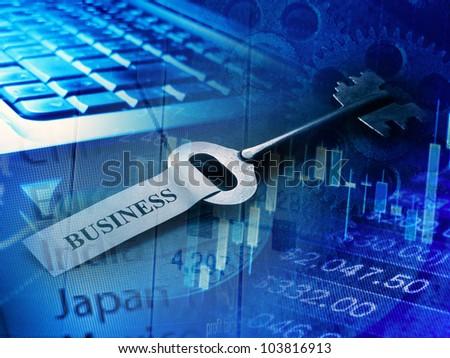 Key to business - stock photo