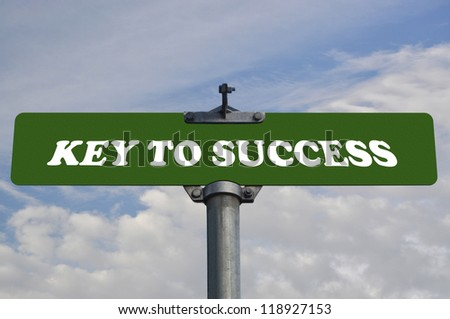 Key to success road sign - stock photo