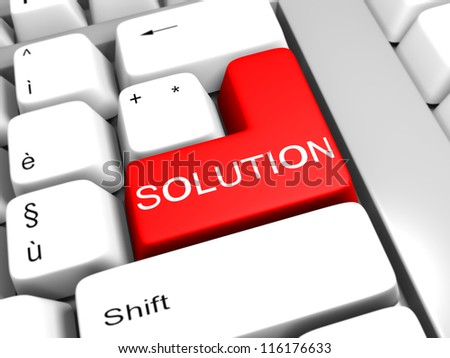 key to the solution - stock photo
