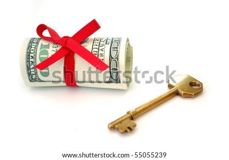 Key to wealth - stock photo