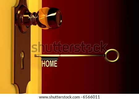 key to your dream house - stock photo