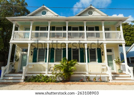 Key west florida usa march 2 2015 typical wood frame for Wood frame house in florida