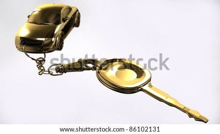 Key with pendant - stock photo