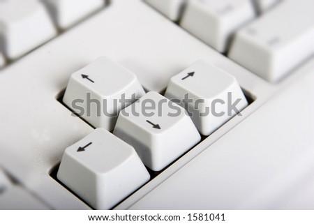 keyboard arrow key - stock photo