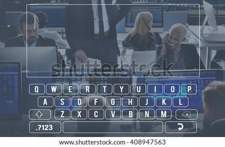 Keyboard Digital Alphabet Communication Input Concept - stock photo