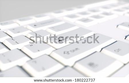 keyboard, focus on key enter - stock photo