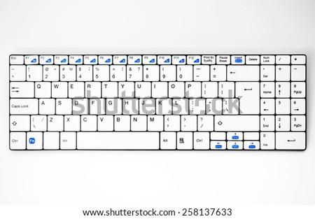 Keyboard key english - stock photo