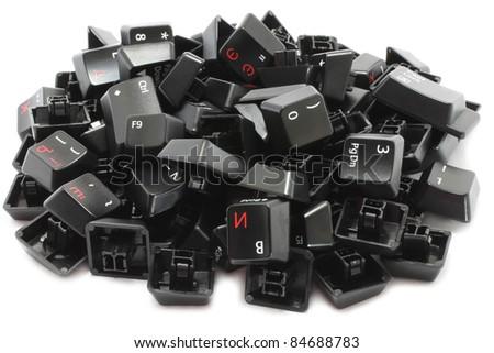 Keyboard keys - stock photo