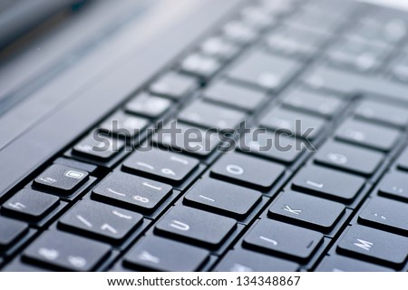 keyboard of a laptop - stock photo