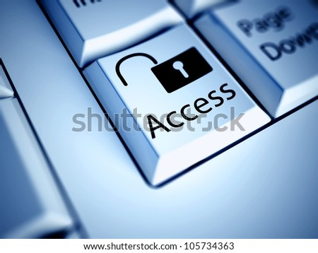 Keyboard with Access button, internet concept - stock photo