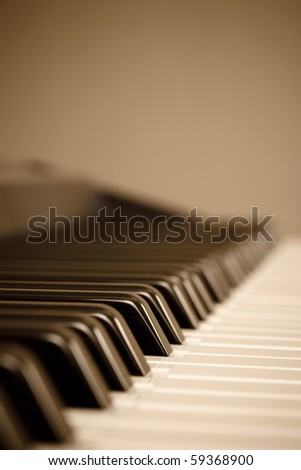 Keyboard with copyspace - stock photo