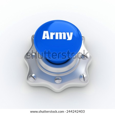 Keyboard with enter button, army word on it - stock photo