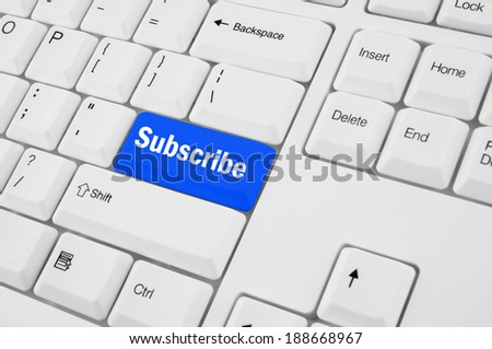 Keyboard with subscribe button  - stock photo