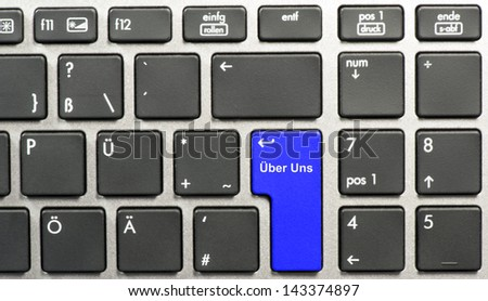 Keyboard with word about us - stock photo