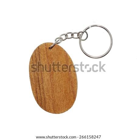 Keychain  on white background - stock photo