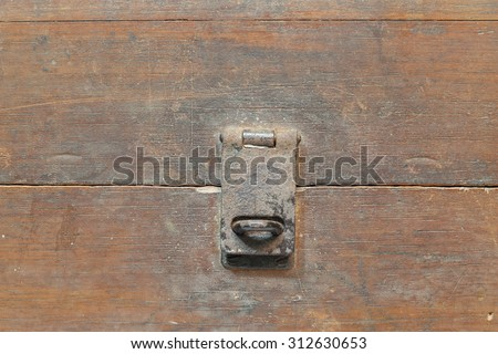Keyholders Thailand ancient wooden chest on a white background. - stock photo