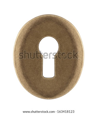 Keyhole isolated on white with clipping path - stock photo