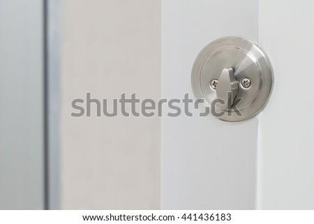 keyhole on door - stock photo