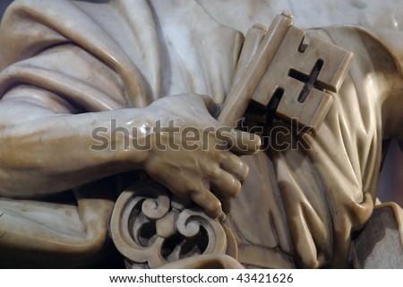 Keys, a symbol of Saint Peter - stock photo